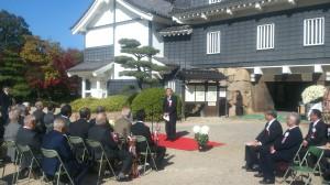 菊花大会表彰式でのあいさつ