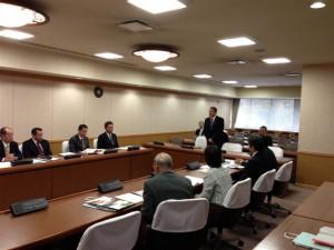埼玉県越谷市議会の視察の様子